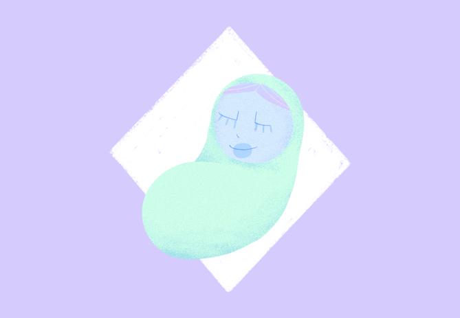 illustration représentant un nourrisson